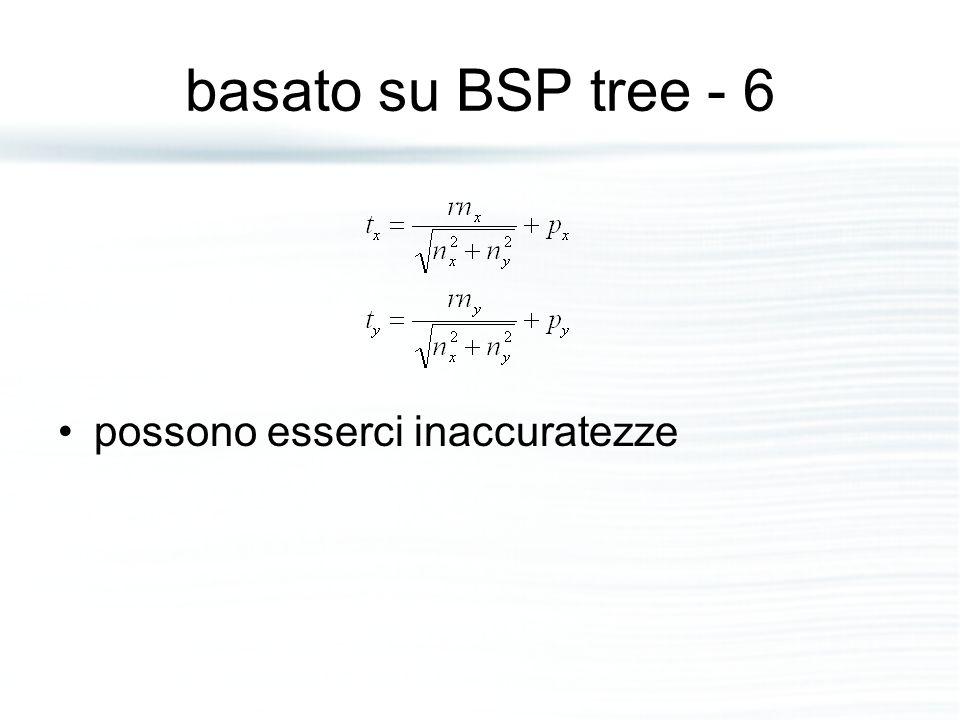basato su BSP tree - 6 possono esserci inaccuratezze
