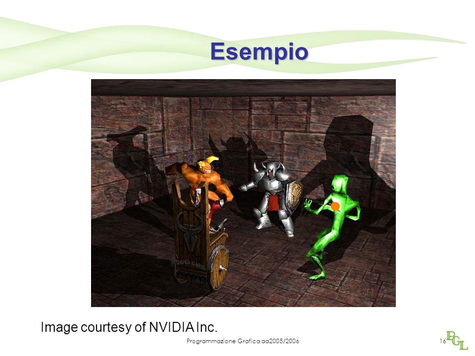 Programmazione Grafica aa2005/200616 Esempio Image courtesy of NVIDIA Inc.