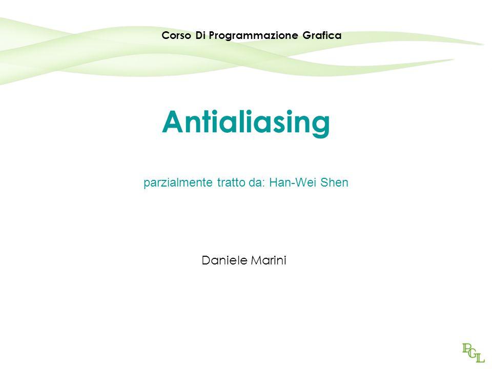 Antialiasing parzialmente tratto da: Han-Wei Shen Daniele Marini Corso Di Programmazione Grafica