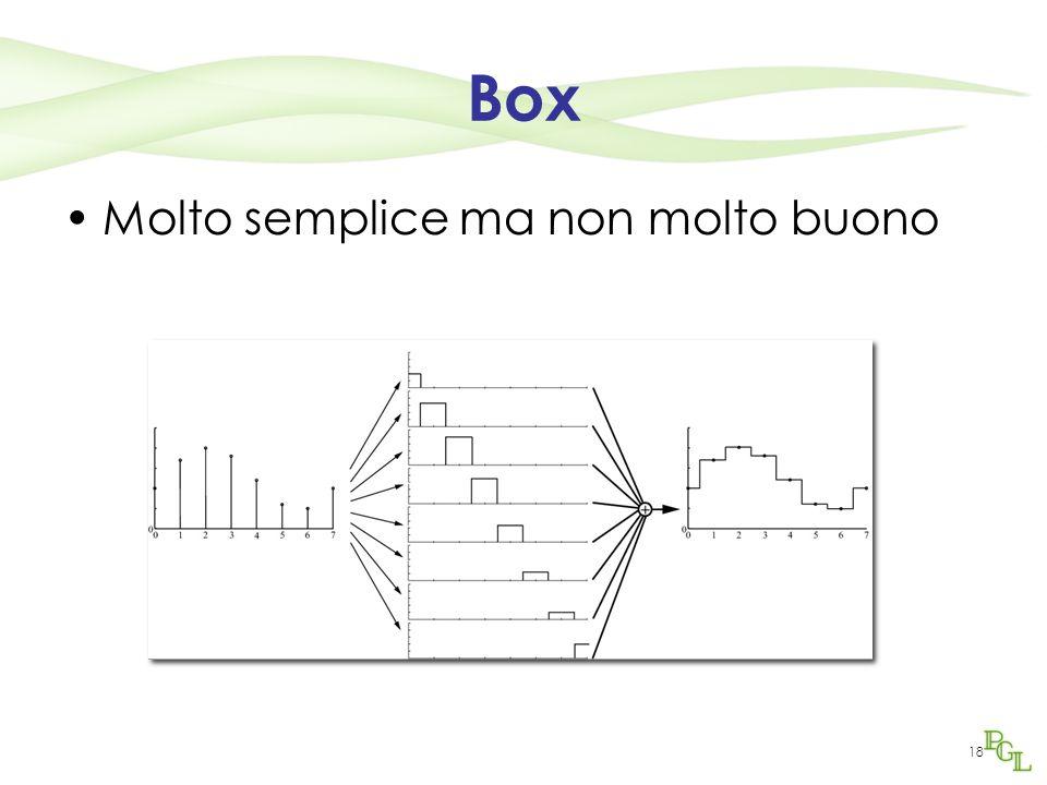 18 Box Molto semplice ma non molto buono