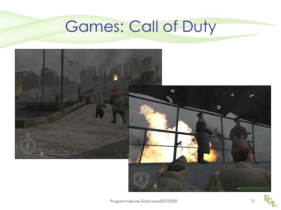Programmazione Grafica aa2007/200810 Games: Call of Duty