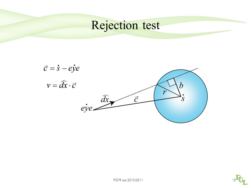 15 Rejection test PGTR aa 2010/2011