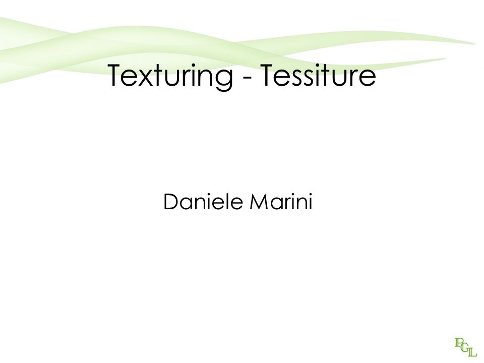 Texturing - Tessiture Daniele Marini