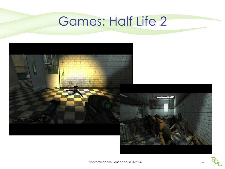 Programmazione Grafica aa2004/20056 Games: Half Life 2