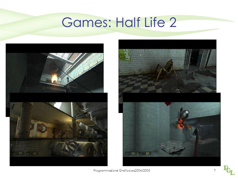 Programmazione Grafica aa2004/20057 Games: Half Life 2