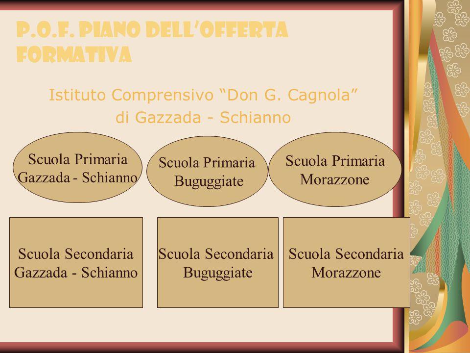"""P.O.F. Piano dell'Offerta Formativa Istituto Comprensivo """"Don G. Cagnola"""" di Gazzada - Schianno Scuola Primaria Gazzada - Schianno Scuola Primaria Bug"""