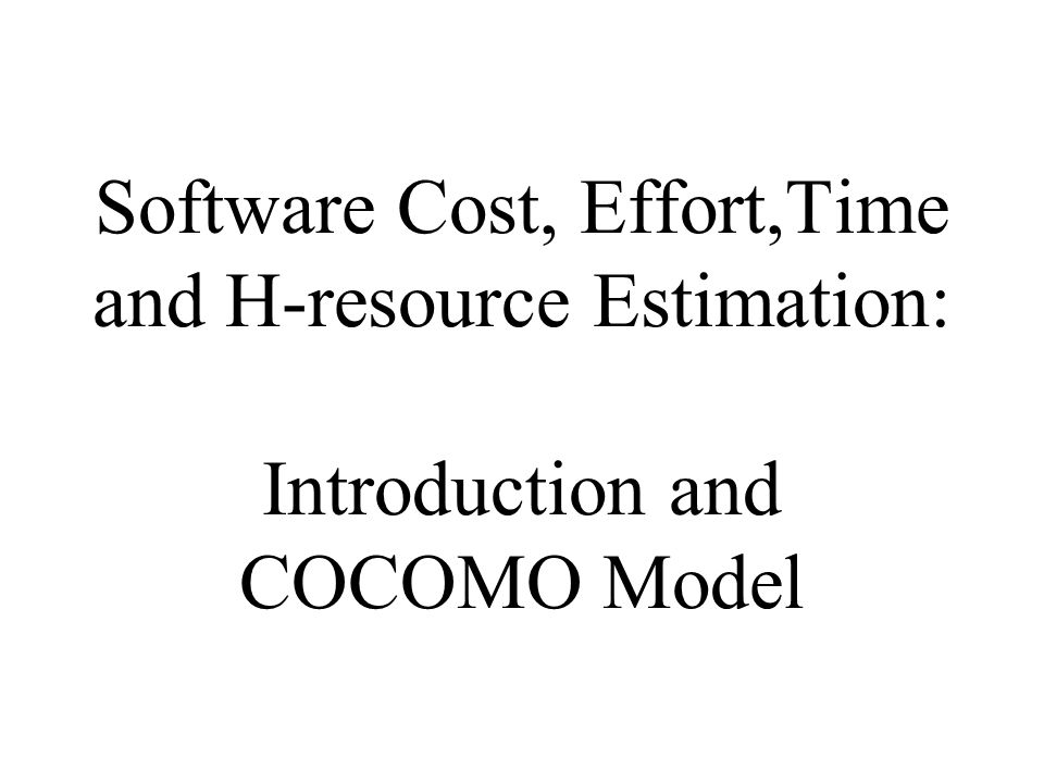 The Intermediate COCOMO Product Attributes C1C2C3C1C2C3 VL very low L low N nominal H high VH very high XH extra high
