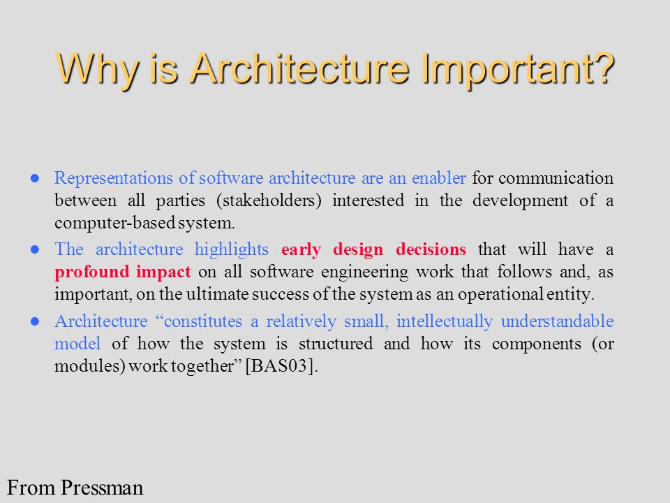 Why is Architecture Important.