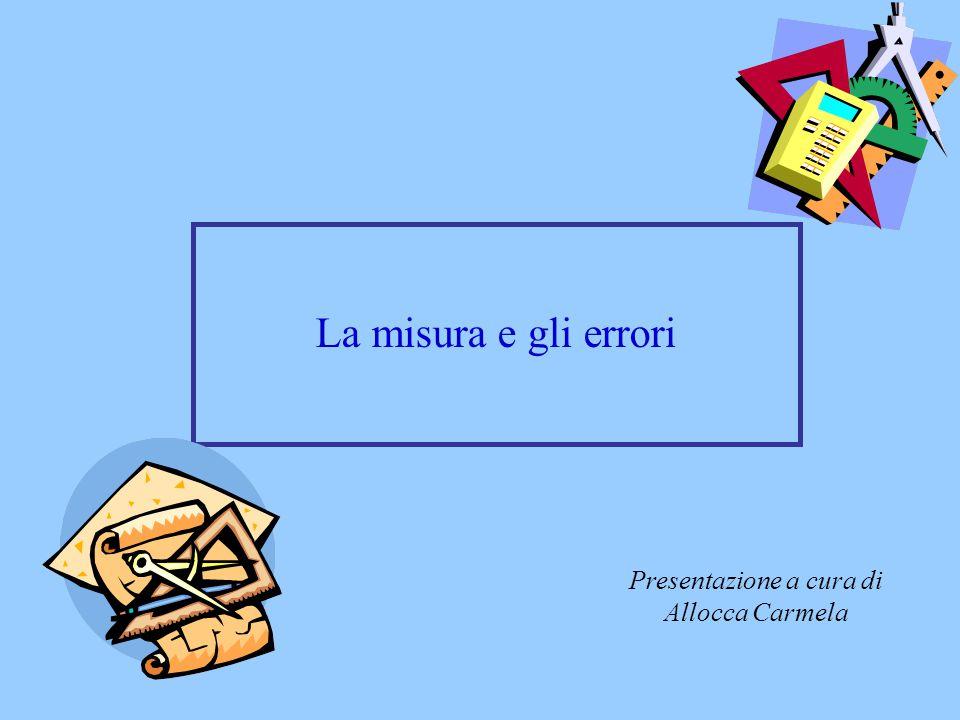 La misura e gli errori Presentazione a cura di Allocca Carmela