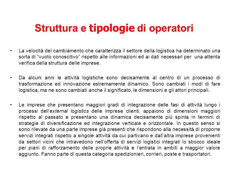 IL RUOLO DEI TRASPORTATORI La crescente esigenza di sistemi logistici è il risultato della modifica di strutture nell economia.