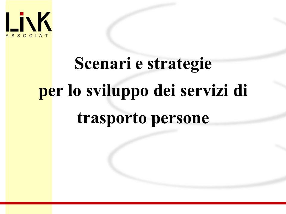 Scenari e strategie per lo sviluppo dei servizi di trasporto persone