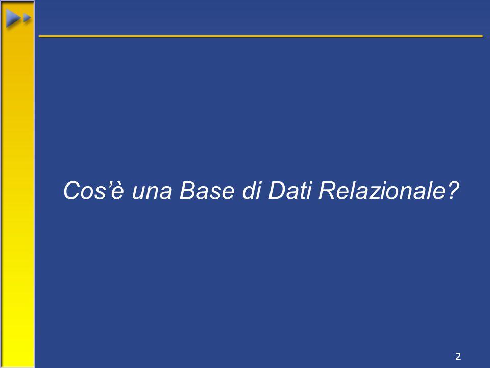 2 Cos'è una Base di Dati Relazionale