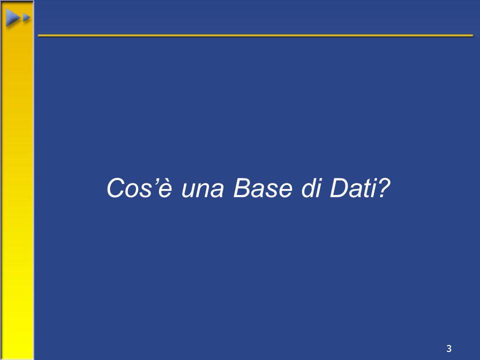 3 Cos'è una Base di Dati