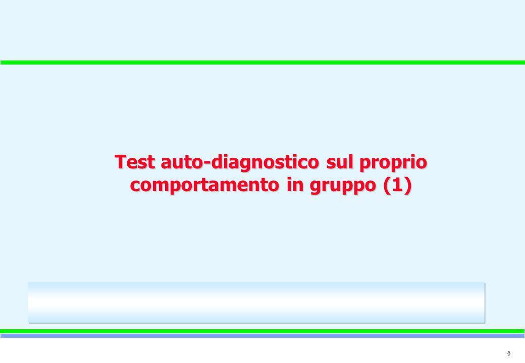 6 Test auto-diagnostico sul proprio comportamento in gruppo (1)