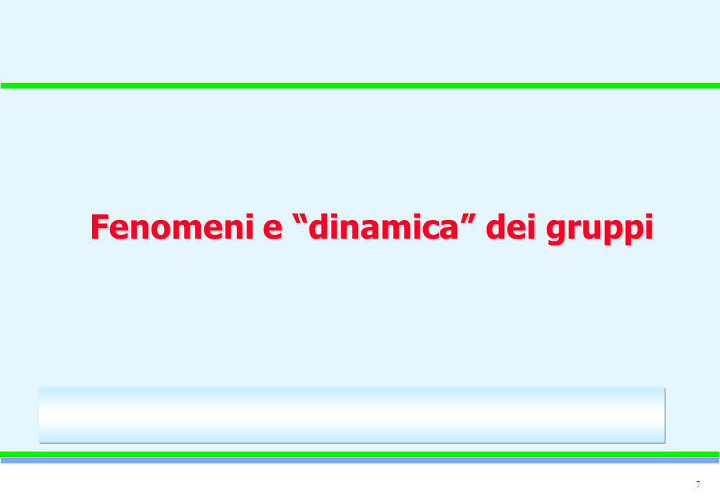 """7 Fenomeni e """"dinamica"""" dei gruppi"""