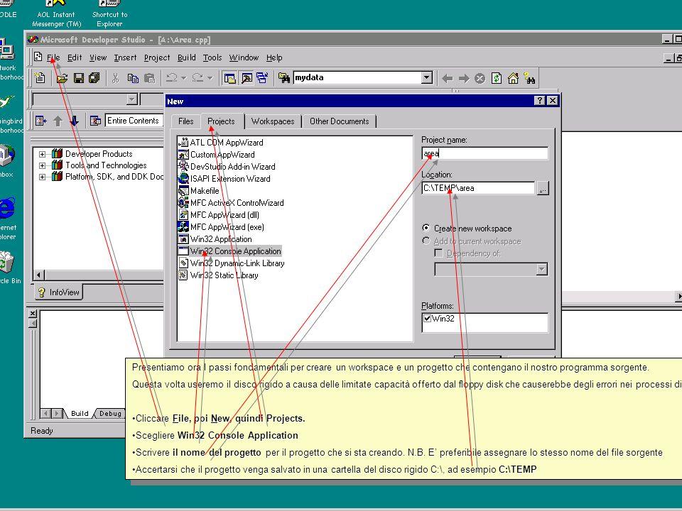 Scegliere di salvare il file su Floppy disk Scrivere il nome che si vuole assegnare al file e cliccare Scrivere il nome che si vuole assegnare al file e cliccare Save Scegliere di salvare il file su Floppy disk Scrivere il nome che si vuole assegnare al file e cliccare Scrivere il nome che si vuole assegnare al file e cliccare Save