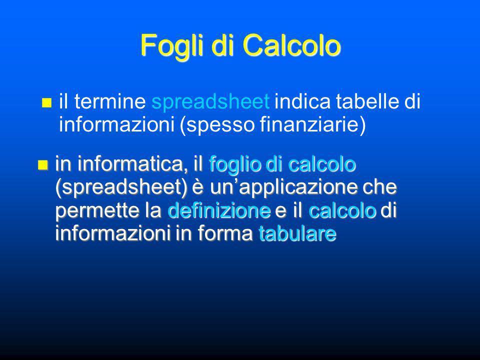 Intervalli colonne C:E colonne C:E