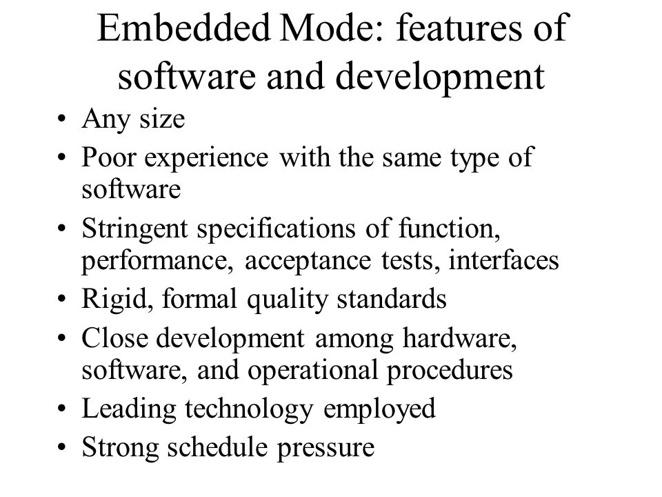 Organic Mode: Examples, E,T Standard engineering, scientific and business modeling systems