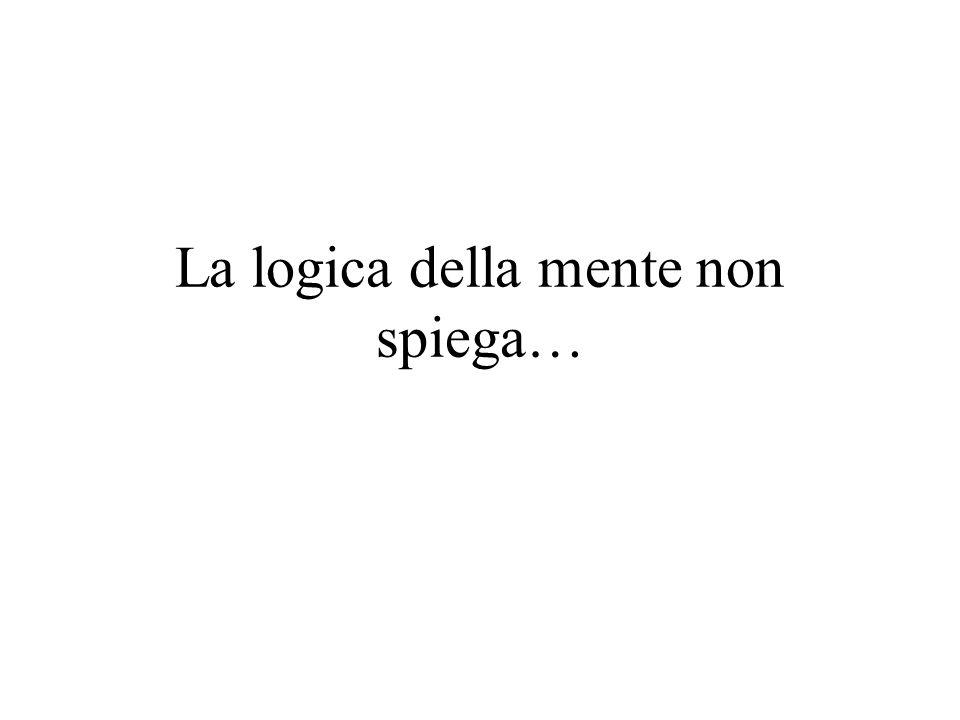 La logica della mente non spiega…