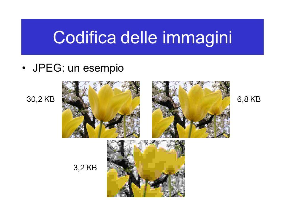 Codifica delle immagini JPEG: un esempio 30,2 KB6,8 KB 3,2 KB