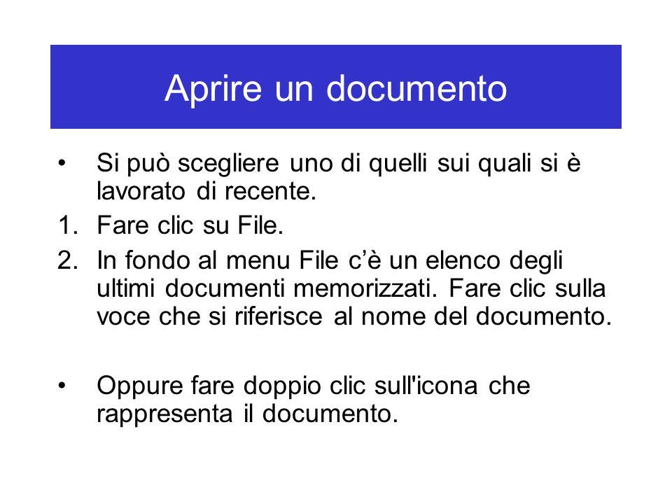 Chiudere il documento Tramite la Barra dei menu: 1.Fare clic su File.