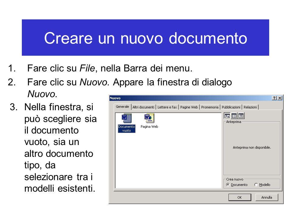 Selezionare tutto il testo Con il mouse: 1.Fare clic sulla voce Modifica nella Barra dei menu.