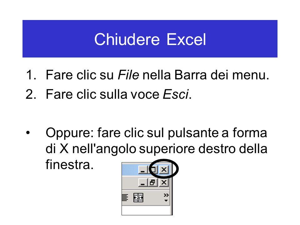 Chiudere Excel 1.Fare clic su File nella Barra dei menu.