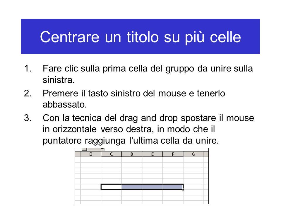 1.Fare clic sulla prima cella del gruppo da unire sulla sinistra.