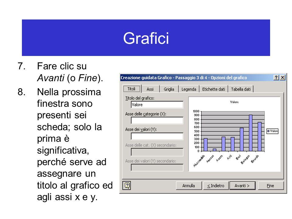 Grafici 7.Fare clic su Avanti (o Fine).