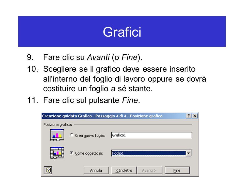 Grafici 9.Fare clic su Avanti (o Fine).