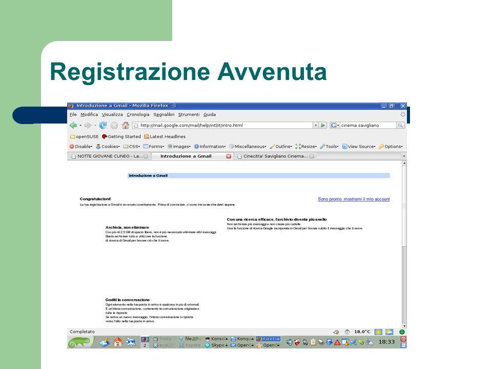 Registrazione Avvenuta