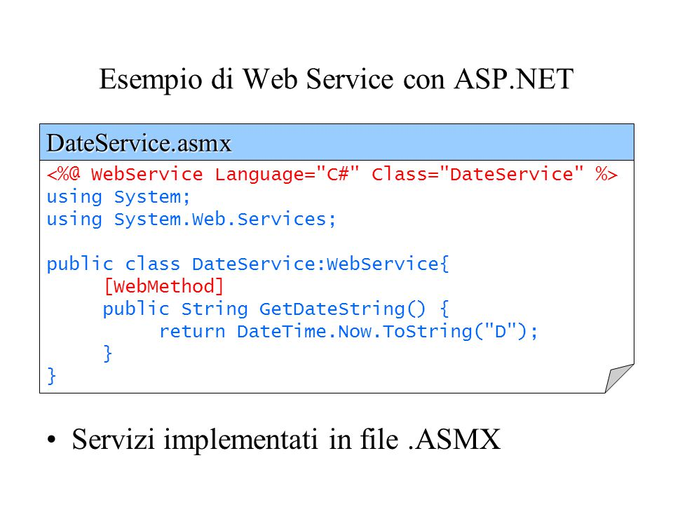 Network Managed Process ASP.Net ISAPI DLL Hosting the.NET Framework CLR XML Web Service objects SOAP Method Request SOAP Method Response Web Server Se