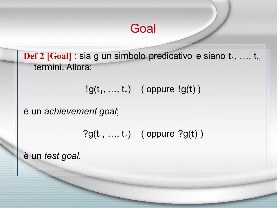 Def 2 [Goal] : sia g un simbolo predicativo e siano t 1, …, t n termini.