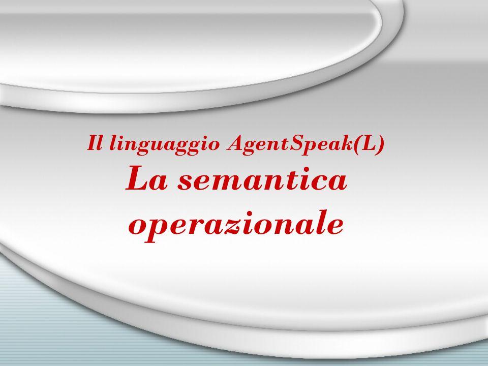 Il linguaggio AgentSpeak(L) La semantica operazionale