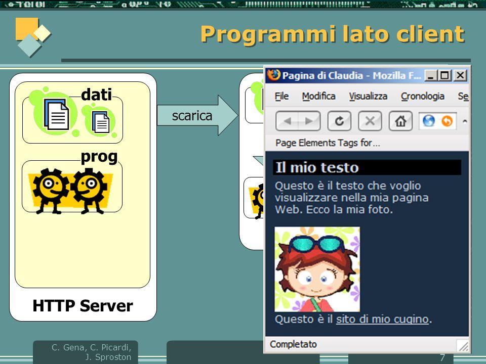 HTML e CSS C.Gena, C. Picardi, J.