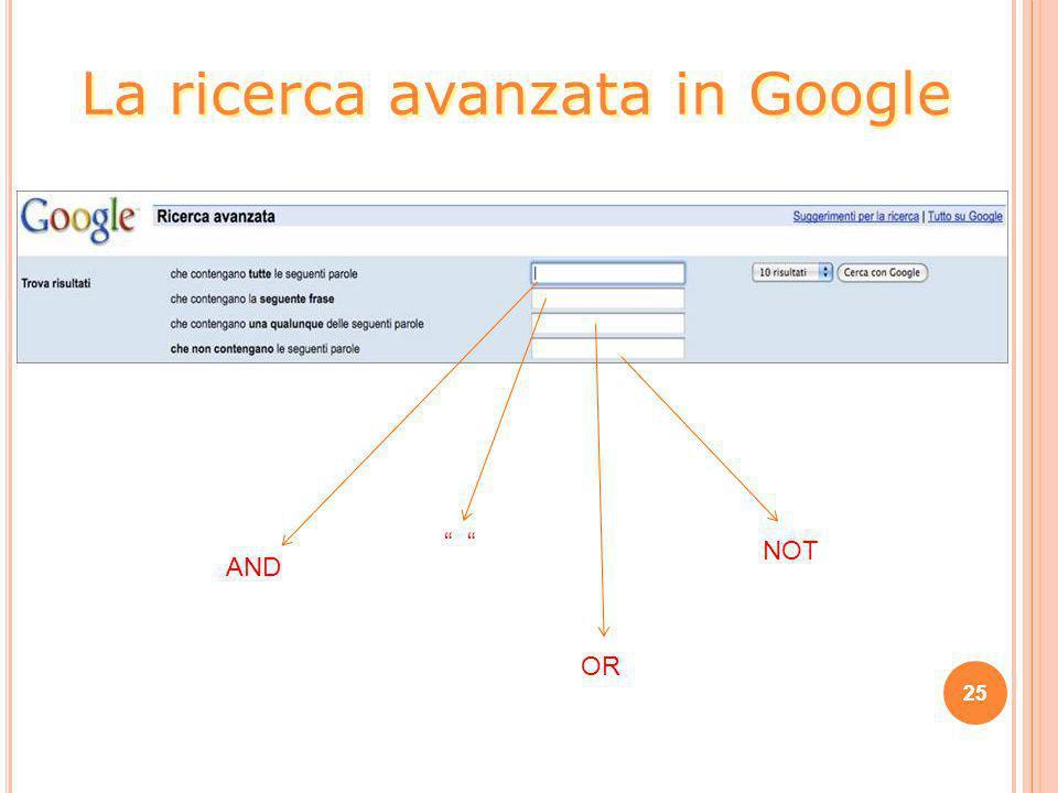 """25 La ricerca avanzata in Google AND """" OR NOT"""