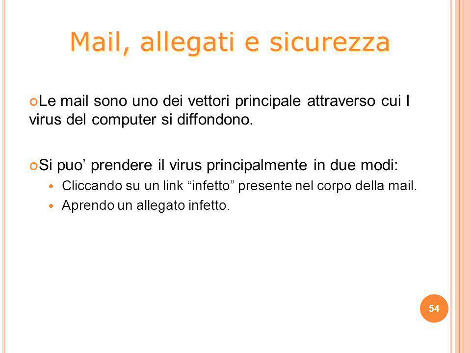 Le mail sono uno dei vettori principale attraverso cui I virus del computer si diffondono. Si puo' prendere il virus principalmente in due modi: Clicc