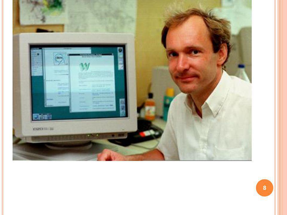9 Nel 1991, il ricercatore del CERN Tim Berners-Lee definisce il protocollo HTTP, che permette una lettura ipertestuale (non sequenziale) dei documenti: nasce il World Wide Web