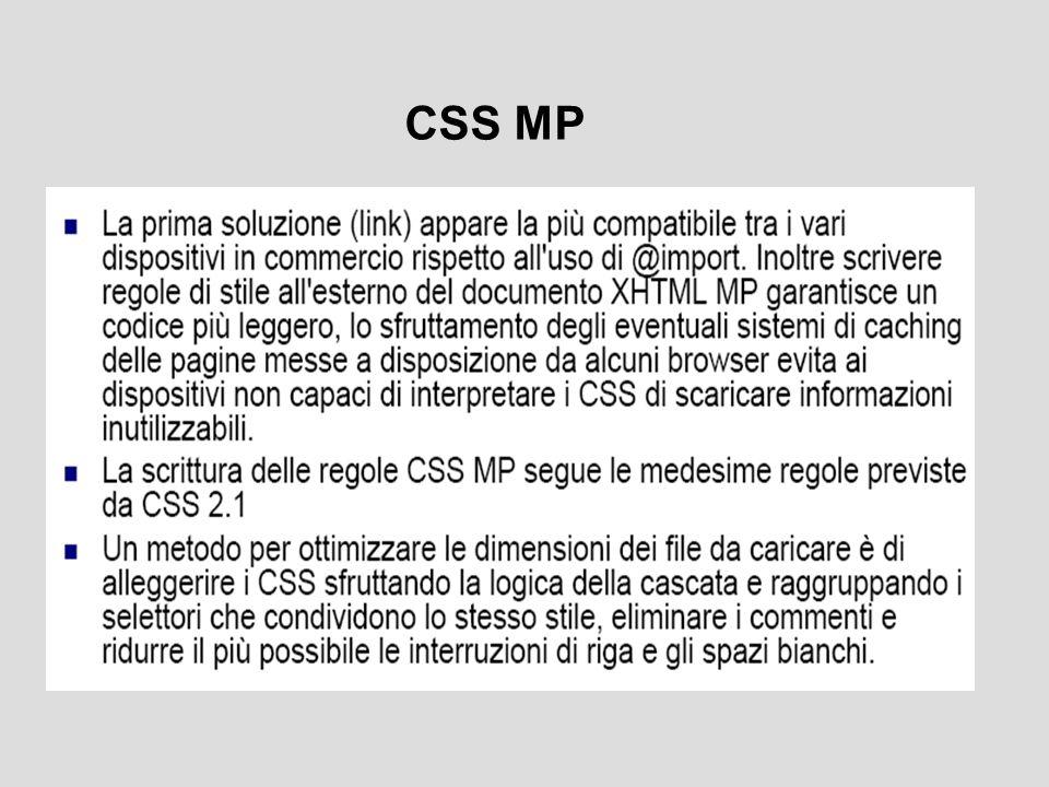 Proprietà di CSS MP (1)