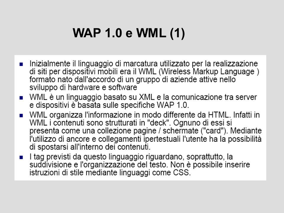 WAP 1.0 e WML (1)