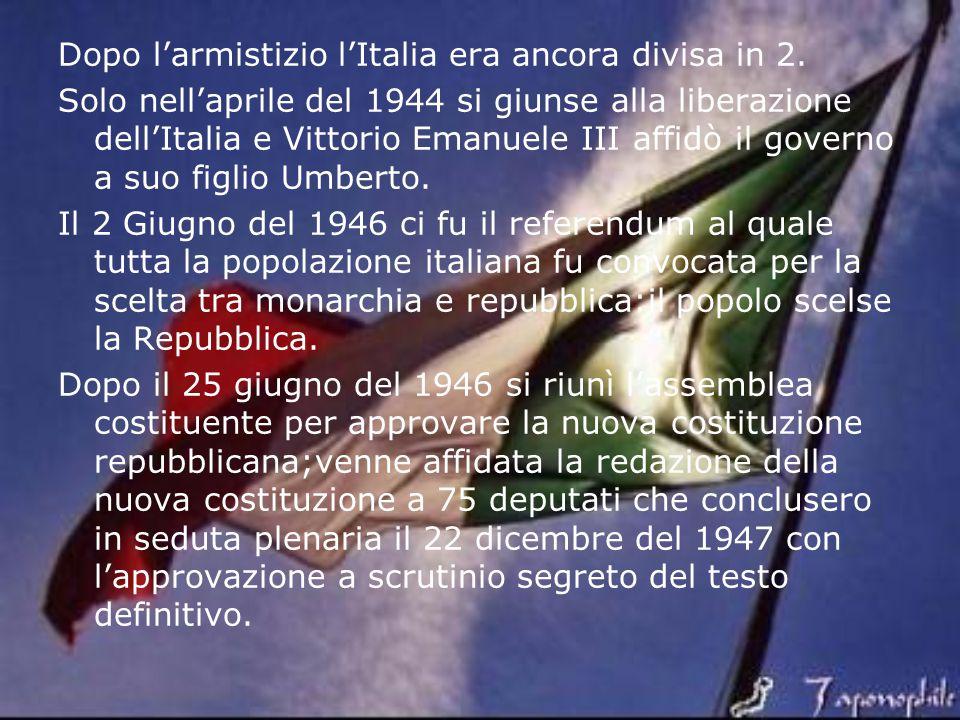 Dopo l'armistizio l'Italia era ancora divisa in 2.