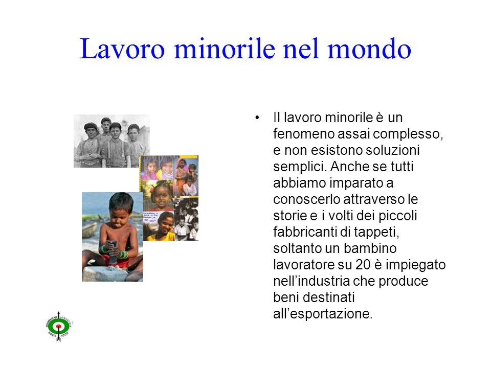 Lavoro minorile nel mondo Il lavoro minorile è un fenomeno assai complesso, e non esistono soluzioni semplici.