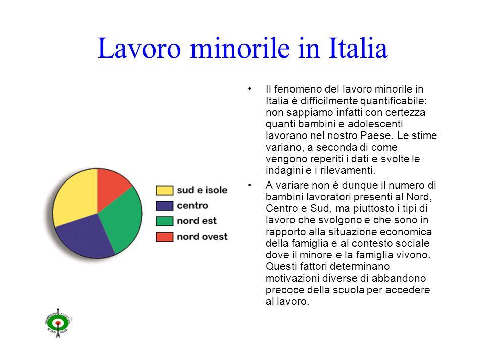 Lavoro minorile in Italia Il fenomeno del lavoro minorile in Italia è difficilmente quantificabile: non sappiamo infatti con certezza quanti bambini e adolescenti lavorano nel nostro Paese.