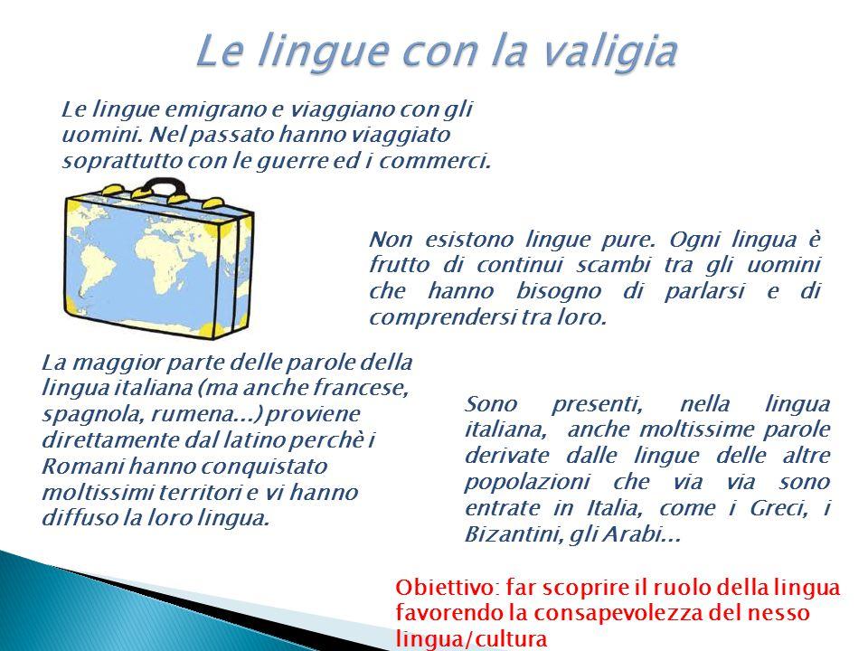 Le lingue emigrano e viaggiano con gli uomini. Nel passato hanno viaggiato soprattutto con le guerre ed i commerci. La maggior parte delle parole dell