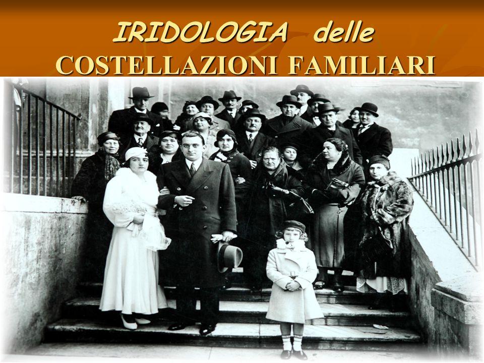 IRIDOLOGIA delle COSTELLAZIONI FAMILIARI