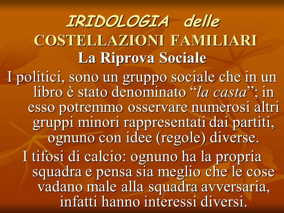"""IRIDOLOGIA delle COSTELLAZIONI FAMILIARI La Riprova Sociale I politici, sono un gruppo sociale che in un libro è stato denominato """"la casta""""; in esso"""