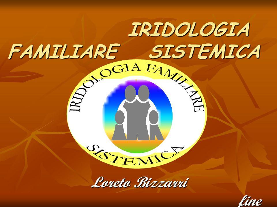 IRIDOLOGIA FAMILIARE SISTEMICA IRIDOLOGIA FAMILIARE SISTEMICA Loreto Bizzarri fine