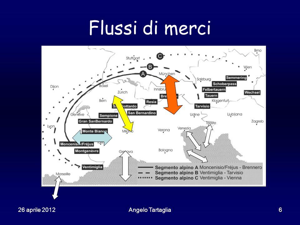 26 aprile 2012Angelo Tartaglia6 Flussi di merci