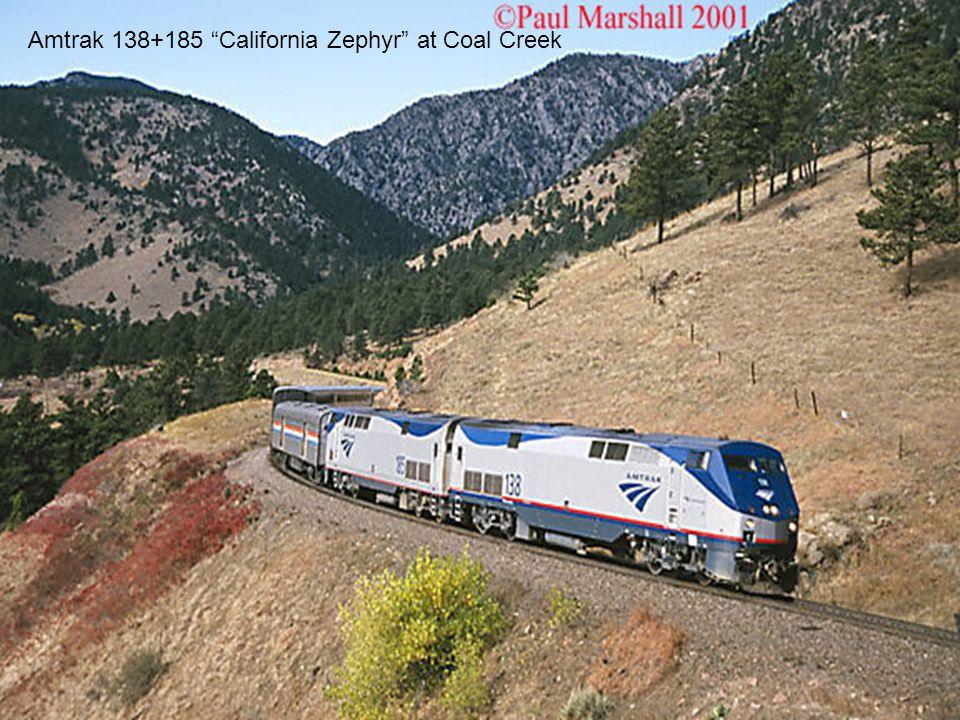 "Amtrak 138+185 ""California Zephyr"" at Coal Creek"