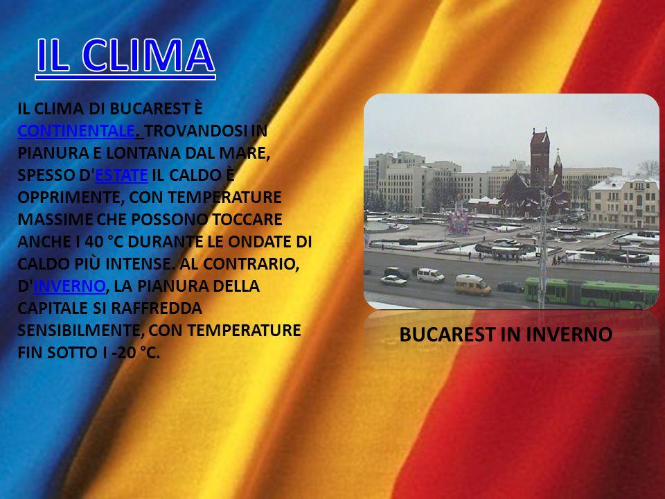 BUCAREST È SITUATA NELLA PARTE MERIDIONALE DEL PAESE, NEL CENTRO DELLA PIANURA ROMENA AD UN ALTITUDINE DI 70-80 M, AD APPROSSIMATIVAMENTE 60 KM DAL DA